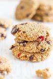 Biscotti di farina d'avena del cioccolato Fotografie Stock Libere da Diritti