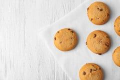 Biscotti di farina d'avena deliziosi con di pepita di cioccolato Immagine Stock Libera da Diritti