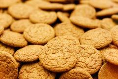 Biscotti di farina d'avena dolci Fotografia Stock Libera da Diritti