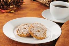 Biscotti di farina d'avena ghiacciati Fotografie Stock Libere da Diritti