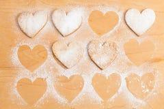 Biscotti di forma del cuore Immagine Stock
