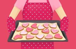 Biscotti di forma dell'innamorato illustrazione vettoriale