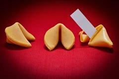 Biscotti di fortuna Fotografia Stock
