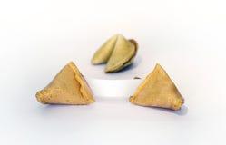 Biscotti di fortuna con carta in bianco Immagine Stock Libera da Diritti