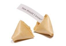 Biscotti di fortuna con il messaggio Fotografia Stock