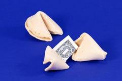 Biscotti di fortuna fortunati Fotografie Stock