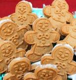 Biscotti di Gingerbreadmen Fotografia Stock