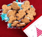 Biscotti di Gingerbreadmen Fotografia Stock Libera da Diritti