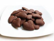 Biscotti di giorno del biglietto di S. Valentino Immagine Stock