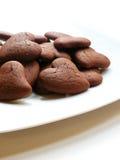 Biscotti di giorno del biglietto di S. Valentino Immagini Stock