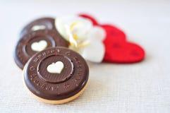 Biscotti di giorno del biglietto di S. Valentino Immagini Stock Libere da Diritti