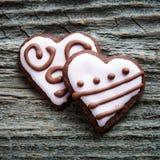 Biscotti di giorno di Valentine´s Fotografie Stock Libere da Diritti