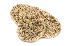 Biscotti di gourment della natura con i semi del sesam e del sale marino Fotografia Stock