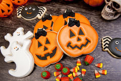 Biscotti di Halloween Fotografie Stock