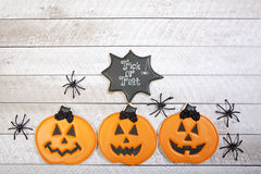 Biscotti di Halloween Fotografia Stock