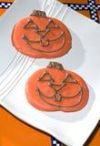 Biscotti di Halloween della zucca Fotografia Stock