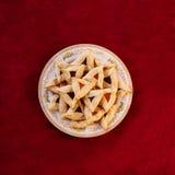 Biscotti di Hamantaschen Fotografia Stock