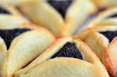 Biscotti di Hamentashen Ozen Haman Purim Fotografie Stock