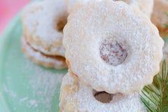 Biscotti di Linzer Immagine Stock Libera da Diritti