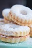 Biscotti di Linzer Fotografia Stock