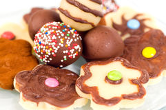 Biscotti di Maripan Immagine Stock