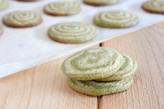 Biscotti di Matcha Fotografie Stock