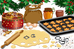 Biscotti di natale royalty illustrazione gratis
