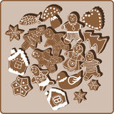 Biscotti di Natale Fotografie Stock Libere da Diritti