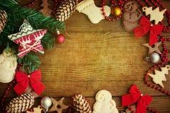 Biscotti di Natale del fondo Immagine Stock