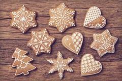 Biscotti di Natale del pan di zenzero Fotografia Stock Libera da Diritti
