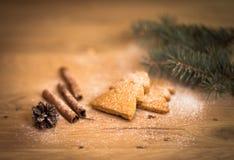 Biscotti di Natale della cannella Fotografia Stock