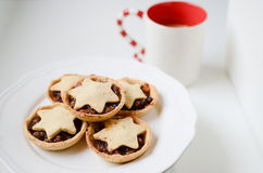 Biscotti di Natale di inverno Fotografia Stock Libera da Diritti