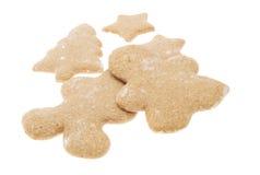 Biscotti di Natale isolati Fotografia Stock