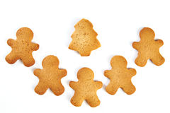 Biscotti di natale isolati Immagine Stock Libera da Diritti