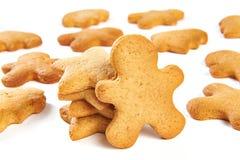 Biscotti di natale isolati Fotografia Stock Libera da Diritti