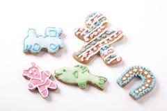 Biscotti di Natale - pan di zenzero Fotografie Stock Libere da Diritti