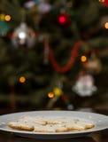 Biscotti di Natale per Santa Immagini Stock Libere da Diritti