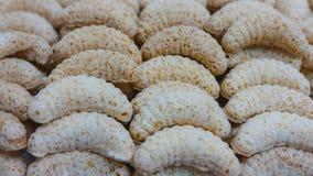 Biscotti di Natale - rotoli della noce di cocco Immagini Stock Libere da Diritti