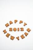 Biscotti di nuovo anno felice 2012 II Fotografia Stock Libera da Diritti