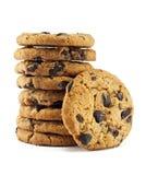 Biscotti di pepita di cioccolato Fotografie Stock Libere da Diritti