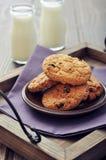 Biscotti di pepita di cioccolato Fotografie Stock