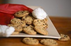 Biscotti di pepita di cioccolato di Natale fotografie stock libere da diritti