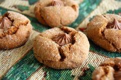 Biscotti di recente al forno di Gingersnap Fotografia Stock Libera da Diritti