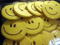 Biscotti di smiley Fotografia Stock