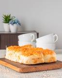 Biscotti di tè del formaggio Fotografie Stock Libere da Diritti