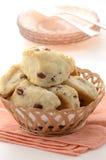 Biscotti di tè dell'uva passa Fotografie Stock Libere da Diritti