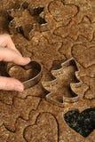 Biscotti di taglio immagini stock