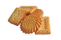 Biscotti di tempo del tè isolati Fotografia Stock