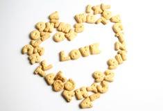 Biscotti di un alfabeto immagini stock libere da diritti