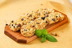 Biscotti di uva passa del sesamo Immagine Stock Libera da Diritti